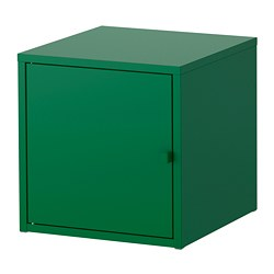 LIXHULT cabinet, metal, dark green