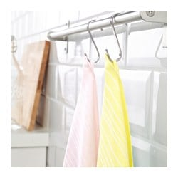 TIMVISARE, Dish towel, yellow, light pink
