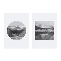 TVILLING poster, set of 2, mountains