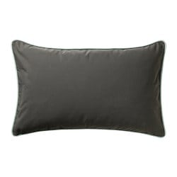 GULLINGEN cushion cover, indoor/outdoor, dark olive-green