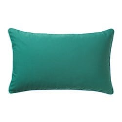 GULLINGEN cushion cover, indoor/outdoor, dark turquoise