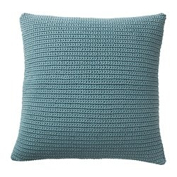 SÖTHOLMEN cushion cover, indoor/outdoor, blue