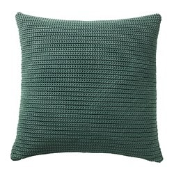 SÖTHOLMEN cushion cover, indoor/outdoor, dark green