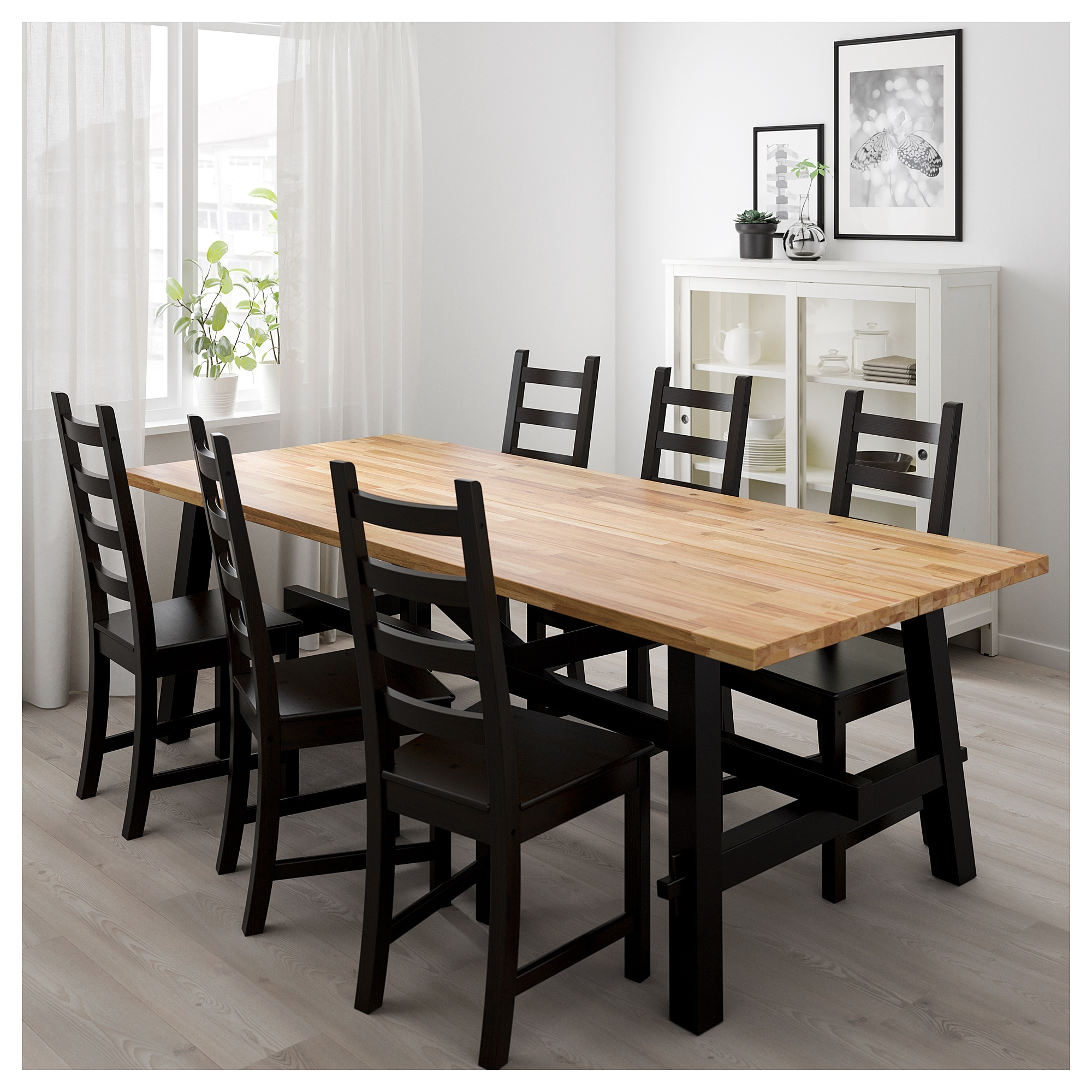 Skogsta kaustby table and 6 chairs ikea