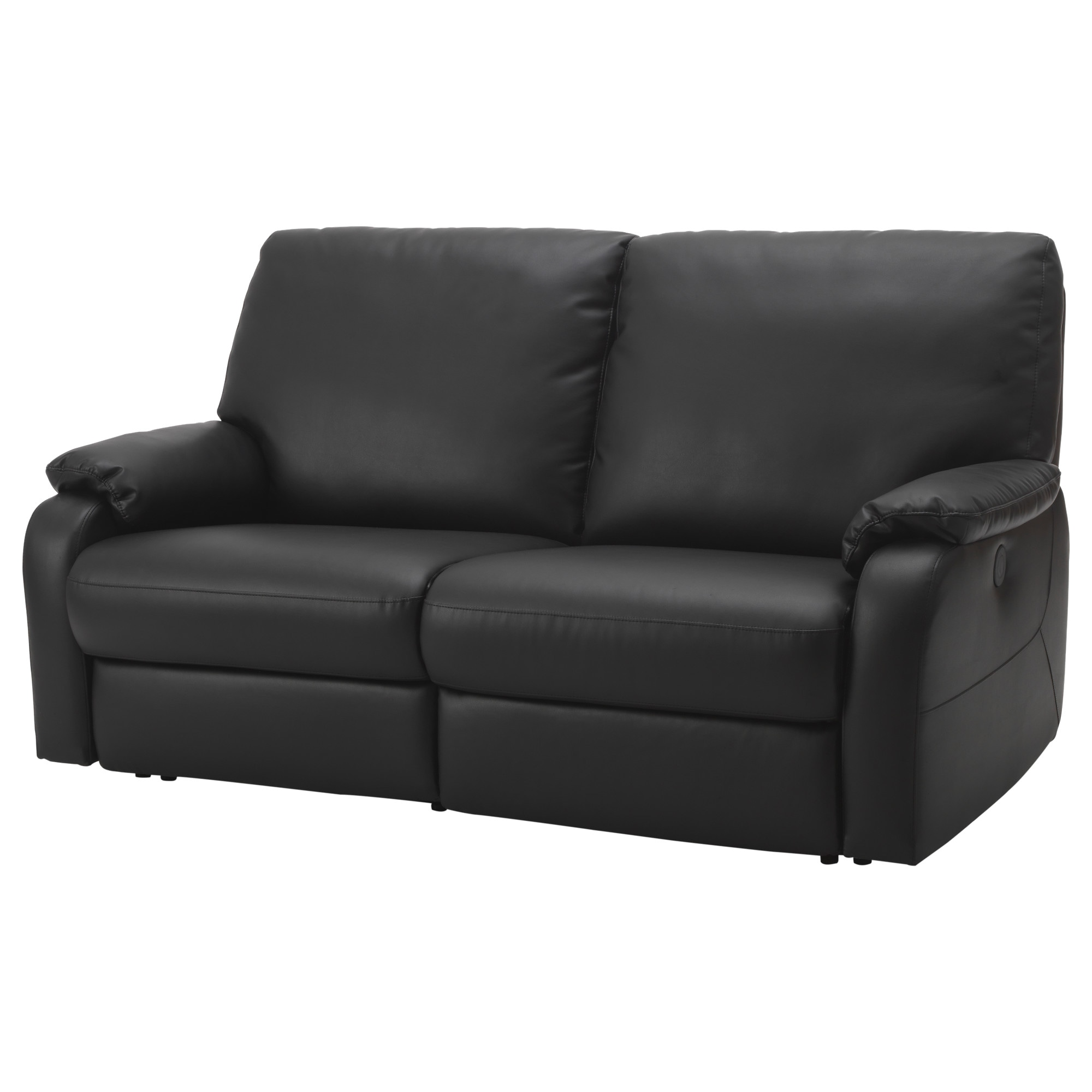 TOMB CK sofa with adjustable seat back  Kimstad black Width  72 7 8. Leather   Faux Leather Couches  Chairs   Ottomans   IKEA