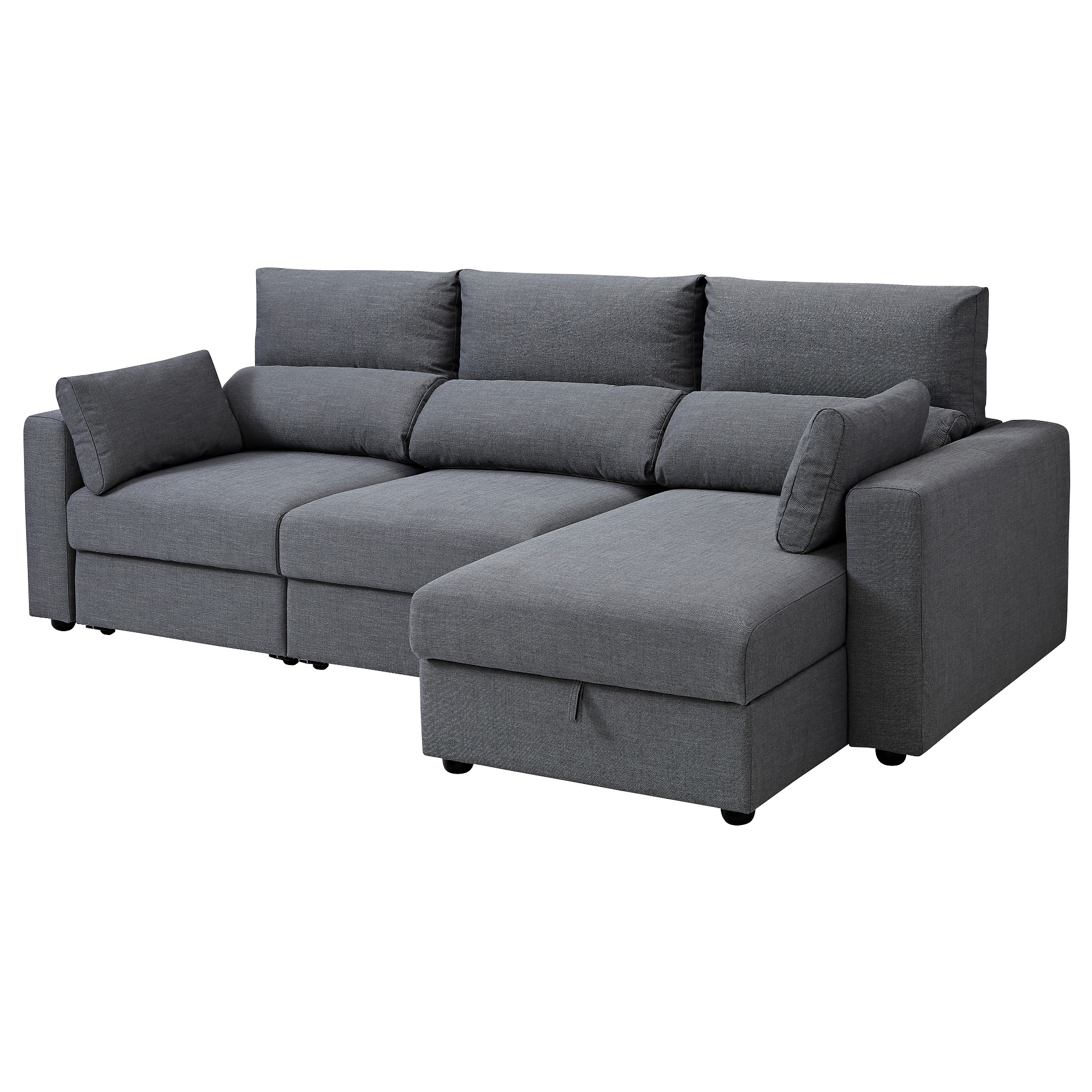 3 Seat Sofa With Chaise Longue Eskilstuna Nordvalla Dark Grey