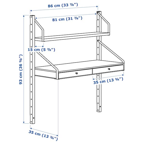 IKEA SVALNÄS Wall-mounted workspace combination