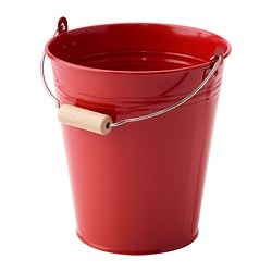 SOCKER bucket/plant pot, in/outdoor, red Volume: 2.5 l