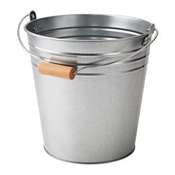 SOCKER bucket/plant pot, in/outdoor, galvanised Volume: 10 l