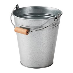 SOCKER bucket/plant pot, in/outdoor, galvanised Volume: 2.5 l