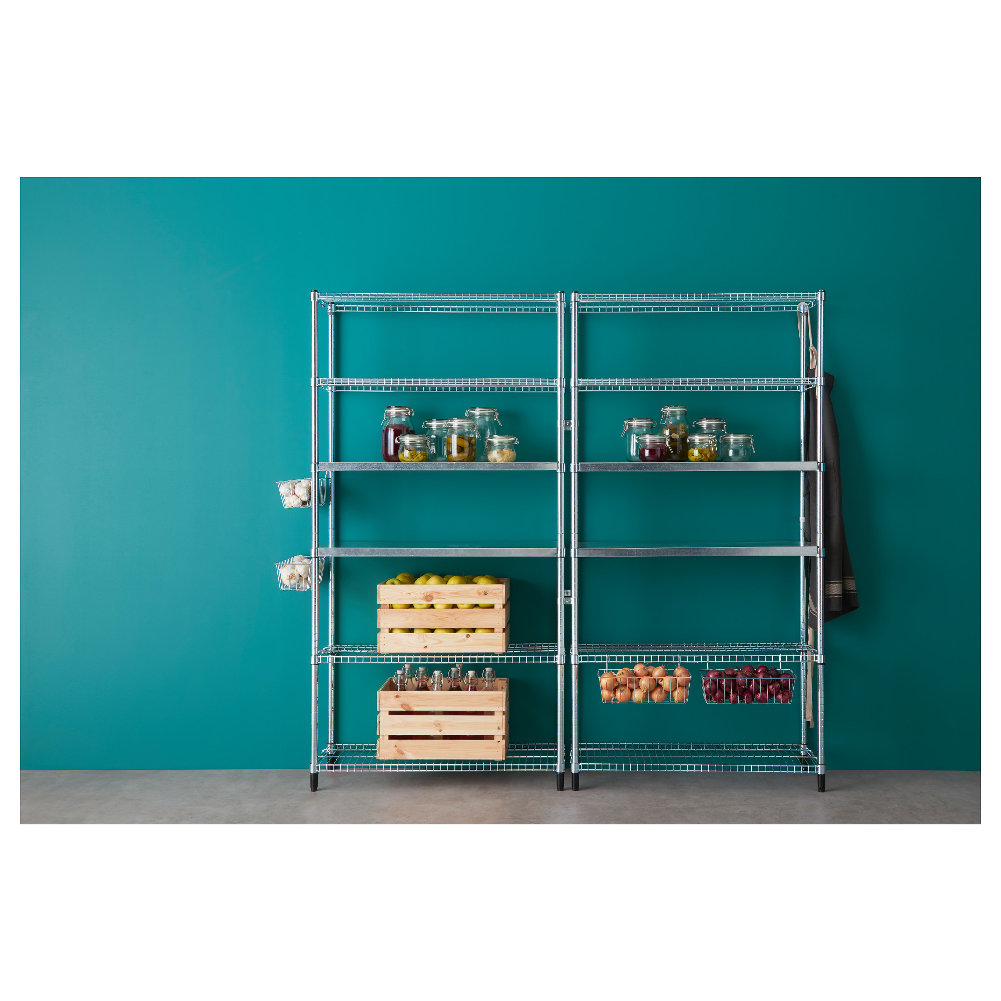 OMAR 2 section shelving unit - IKEA