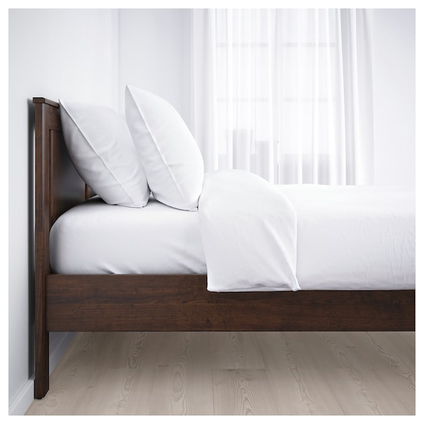 Songesand bed frame brown lur y ikea - Base a doghe ikea ...