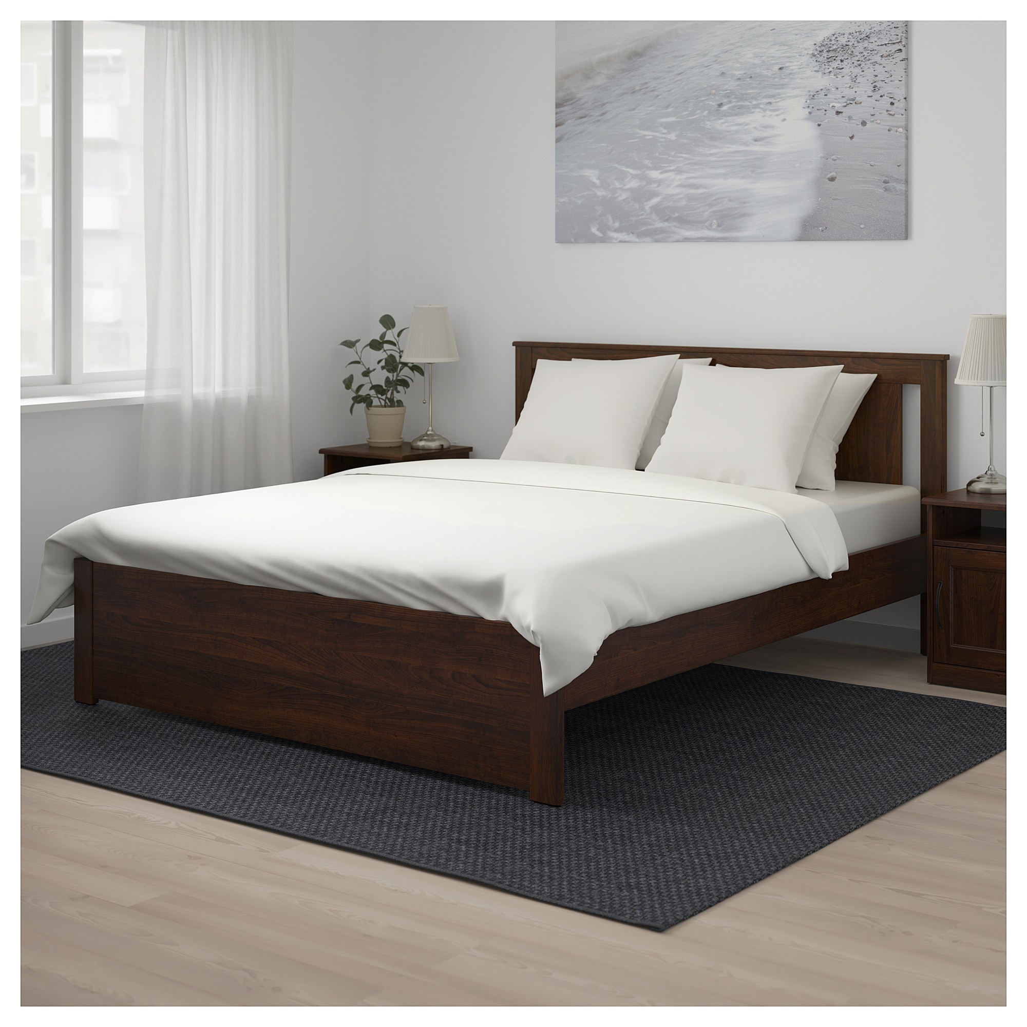 SONGESAND Bed frame Queen Luröy IKEA