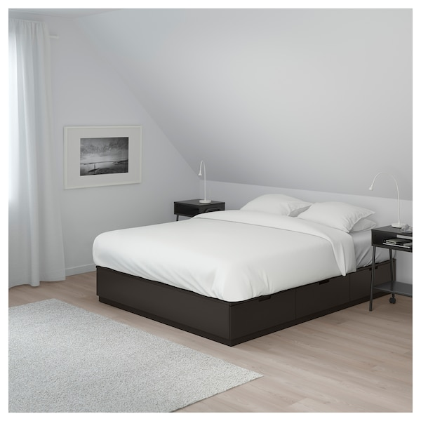 Bed Frame With Storage Nordli Anthracite