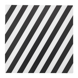 PIPIG place mat, striped, black/white