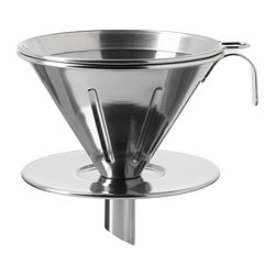ÖVERST, Metal coffee filter, stainless steel