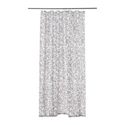 BLEKVIVA, Shower curtain, white, gray