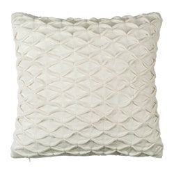 "RIDDARFJÄRIL cushion cover, off-white Length: 20 "" Width: 20 "" Length: 50 cm Width: 50 cm"