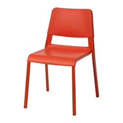 TEODORES chair, bright orange Tested for: 110 kg Width: 46 cm Depth: 54 cm
