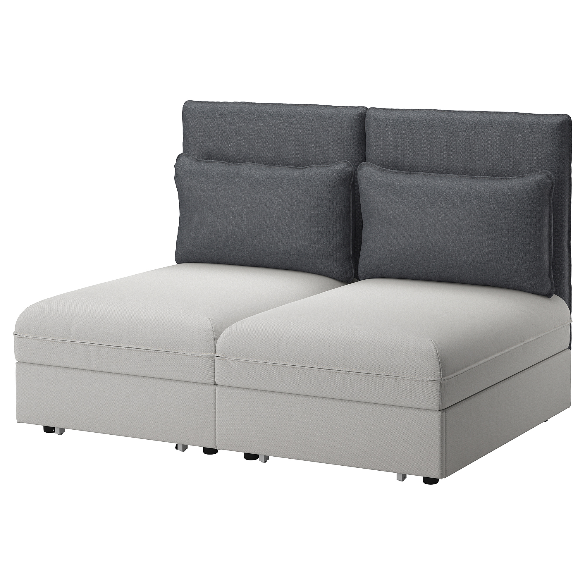 Schlafsofa ikea  VALLENTUNA 2-seat sofa with bed - IKEA