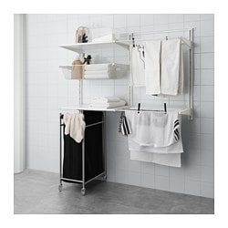 ALGOT wall upright/shelves/drying rack, white