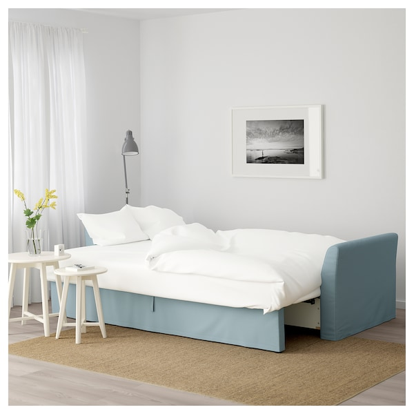 Blue Ikea Sofa Beds: HOLMSUND Three-seat Sofa-bed
