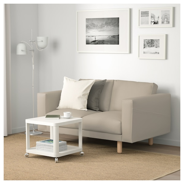 norsborg 2er sofa edum beige beige birke ikea. Black Bedroom Furniture Sets. Home Design Ideas