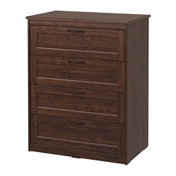 SONGESAND 4-drawer chest, brown