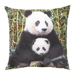 URSKOG cushion, Panda multicolour