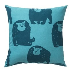 DJUNGELSKOG cushion, monkey, blue