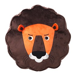 DJUNGELSKOG cushion, lion, brown