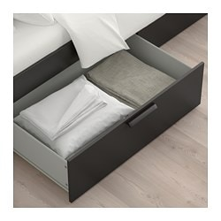 Brimnes Bed Frame With Storage Headboard Black Luröy