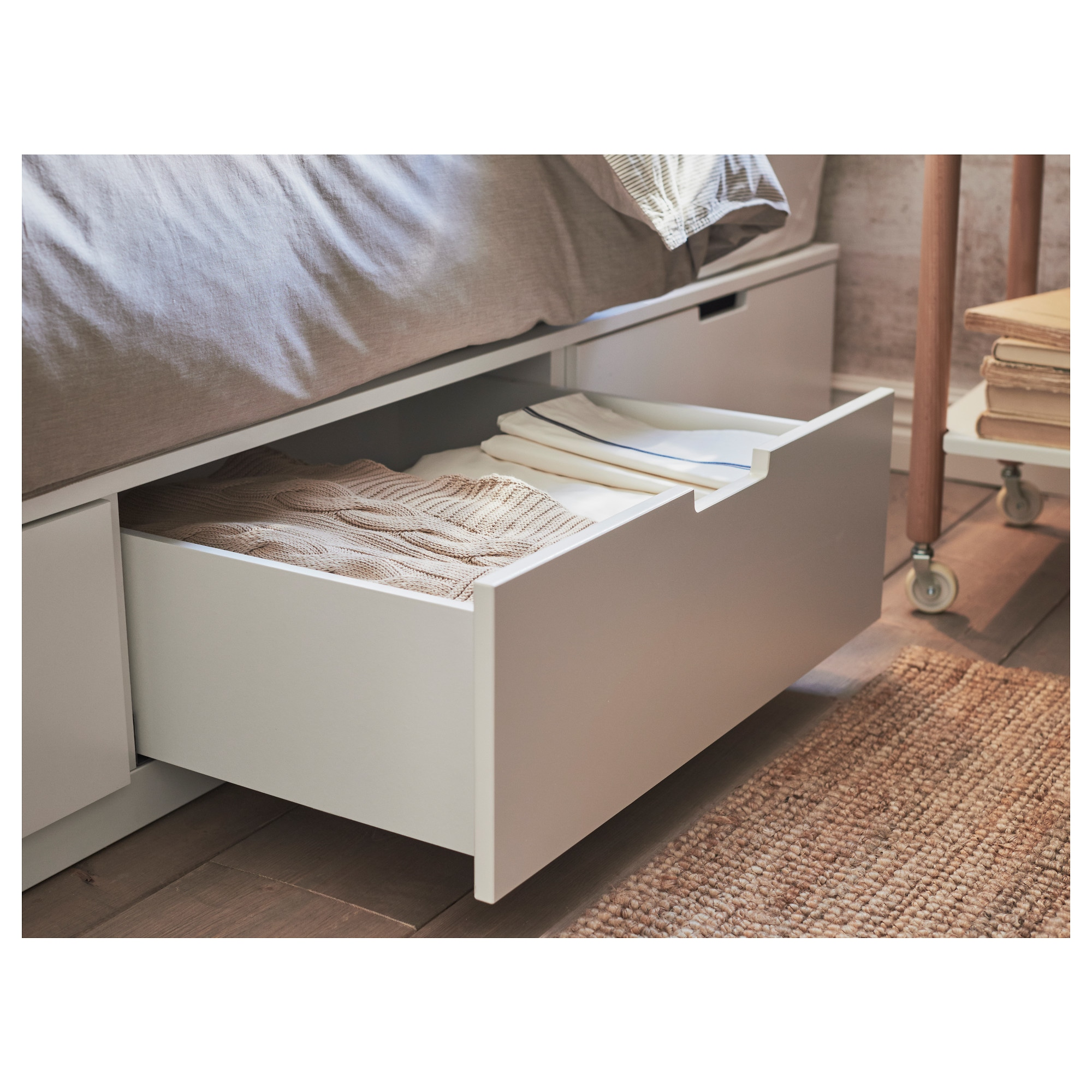 NORDLI Bed frame with storage - Queen - IKEA