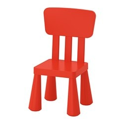 MAMMUT, Children's chair, indoor/outdoor, red