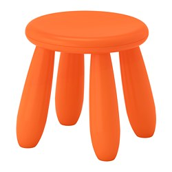 MAMMUT, Children's stool, indoor/outdoor, orange