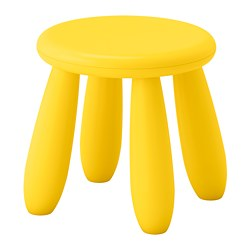 MAMMUT, Children's stool, indoor/outdoor, yellow