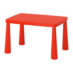 MAMMUT, Children's table, indoor/outdoor red