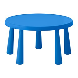 MAMMUT, Children's table, indoor/outdoor blue