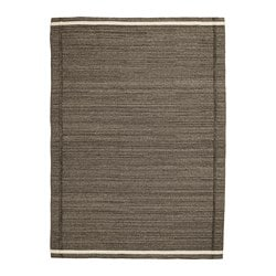 HÖJET rug, flatwoven, brown handmade brown