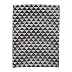 SOMMAR 2018 rug flatwoven, in/outdoor, black/grey