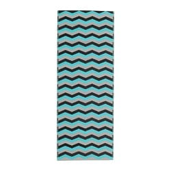 SOMMAR 2018 rug flatwoven, in/outdoor, turquoise