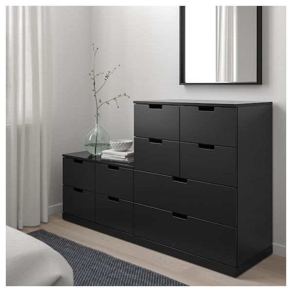 nordli kommode med 10 skuffer antrasitt ikea. Black Bedroom Furniture Sets. Home Design Ideas