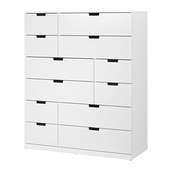 NORDLI 12-drawer chest, white