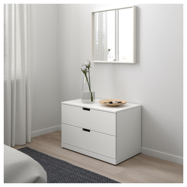 nordli kommode mit 2 schubladen wei ikea. Black Bedroom Furniture Sets. Home Design Ideas