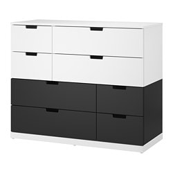 NORDLI 8-drawer dresser, white, anthracite