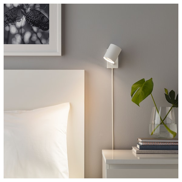 competitive price aa878 98690 Wall/reading lamp with LED bulb NYMÅNE white