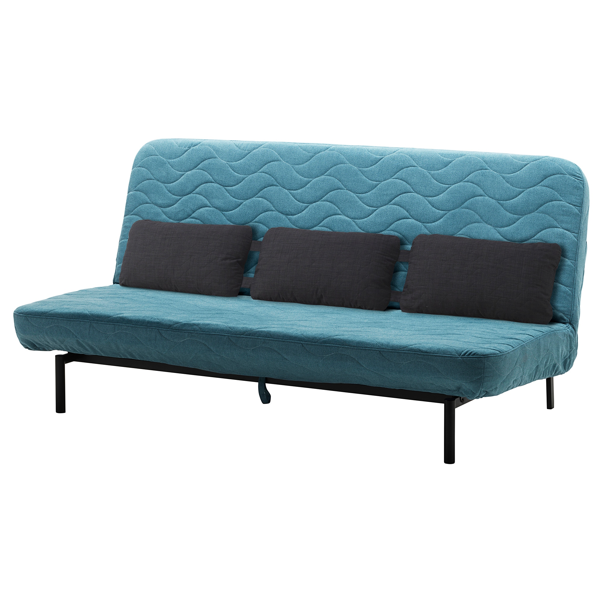 NYHAMN Sleeper sofa with triple cushion   with foam mattress