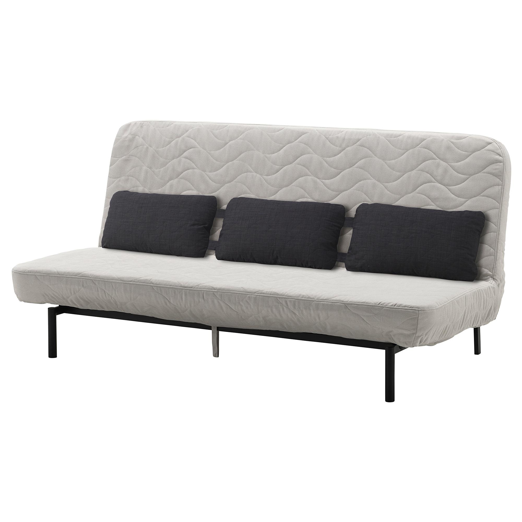 NYHAMN Sleeper Sofa With Triple Cushion, With Foam Mattress, Borred Light  Beige