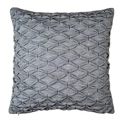 RIDDARFJÄRIL, Cushion cover, gray