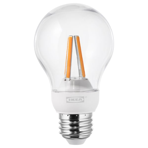 timeless design df9d2 817a7 LED bulb E26 600 lumen LEDARE warm dimming dimmable, globe clear